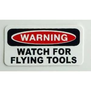 Danger Watch For Flying Tools Hard Hat / Helmet Stickers 1 x 2
