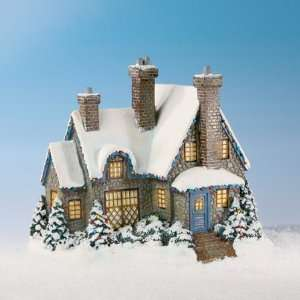 Thomas Kinkade Christmas at Swanbrook Lighted Village House Cottage