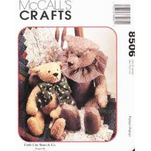 McCALLS 8506 Little City Bears ~ TEDDY BEAR SEWING