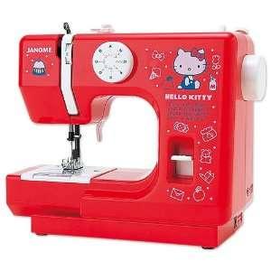Janome Hello Kitty Sewing Machine RED Sanrio Japan Version