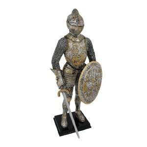 Medieval French Knight In Armor Statue Figure Armour  Home