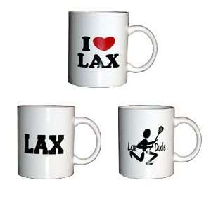 I (heart) Lax Ceramic Coffee Mug Sports & Outdoors