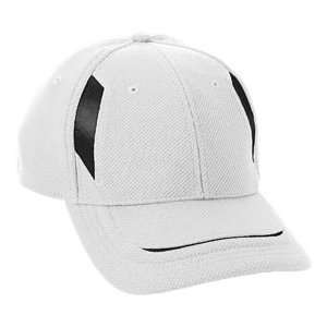 Augusta Youth Adjustable Wicking Mesh Edge Cap WHITE/BLACK