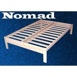 Nomad Solid Hardwood Platform Bed Frame   Queen Size