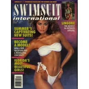 Swimsuit International Magazine (Ujena) July 1987 Pin Up Models