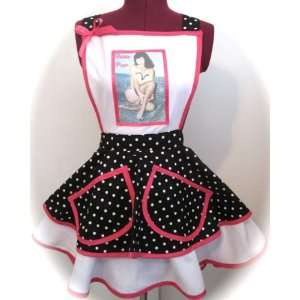 Page Licensed Apron   Red, Black & White Strike a Pose