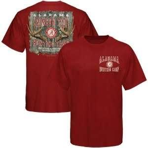 Alabama Crimson Tide Crimson Hunting Camp T shirt  Sports