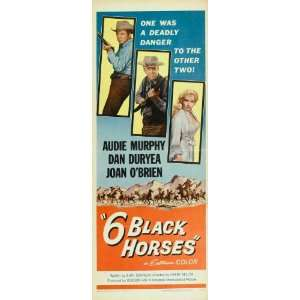 Six Black Horses Movie Poster (14 x 36 Inches   36cm x 92cm) (1962