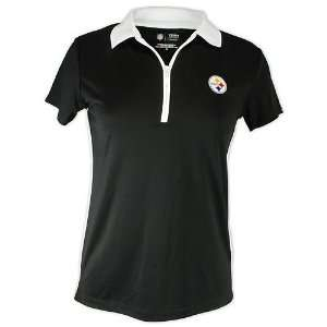 Pittsburgh Steelers Ladies Endzone Polo Shirt: Sports & Outdoors