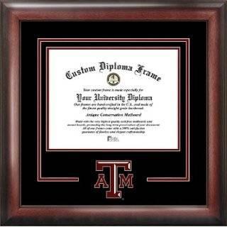 Texas A&M University Aggies   Gold Medallion   Mahogany Gold Trim