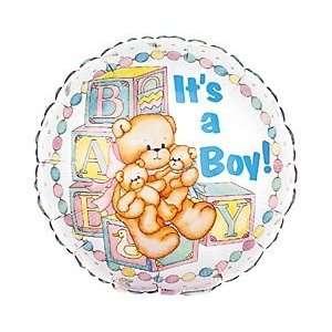 18 Inch Mylar Its a Boy Teddy Bear Balloon Baby