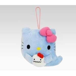 Hello Kitty Ghost Mascot Plush Blue