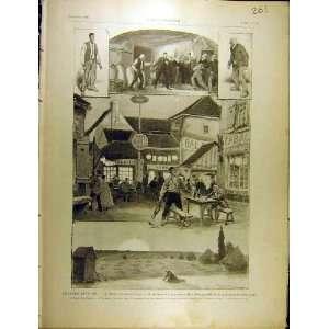 1902 Theatre Antoine Hugot Play Actors French Print