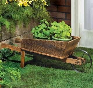 Mini Decorative Wooden Wheelbarrow/FLOWER CART/Wagon