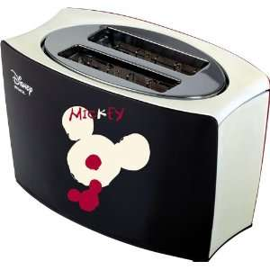 Disney Milano Ariete Mickey Bi Colour Toaster schwarz/rot .co