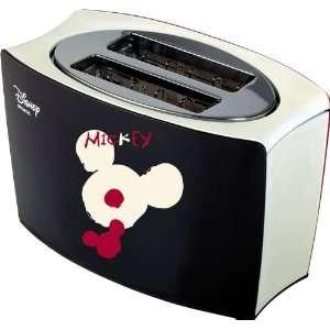 Disney Milano Ariete Mickey Bi Colour Toaster schwarz/rot .co