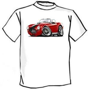 AC Cobra Kit Car Muscle Car Cartoon Tshirt FREE