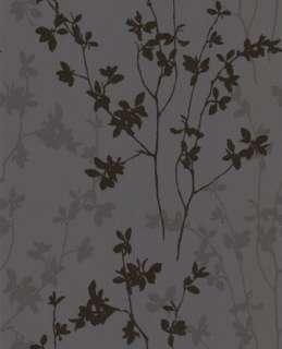 19653 Superfresco Texture Nature Black,Graphite Trail,Floral Wallpaper