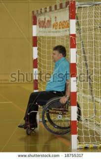 stock photo : VIENNA   OCTOBER 11: Wheelchair Handball Event organized