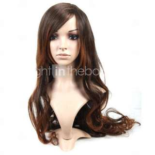 Capless Extra Long Brown Curly Hair Wig   US$ 39.99
