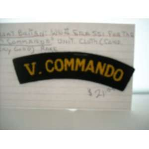 Great Britan WWII SSI 5th Commando Unit Cloth Title Everything Else