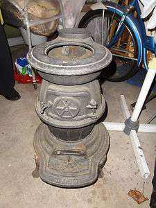 Union Stove Works New York Cast Iron Pot Belly Stove Dash 40