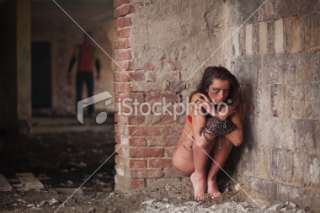 Girl in chains Royalty Free Stock Photo