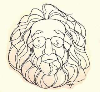 36 Jerry Garcia Grateful Dead Wire Caricature Wall Art |