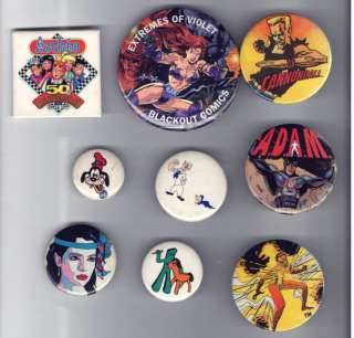old Comic Book Cartoons pin pinback button