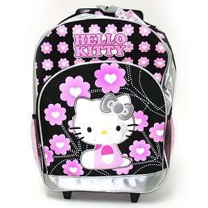 Sanrio Hello Kitty Rolling Backpack Pink Girls School Bag with Wheel