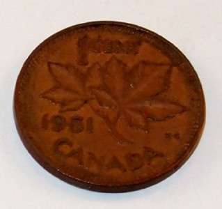 1951 Canada Canadian PENNY 1 ONE CENT small cent COIN