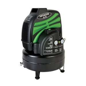 Hitachi Oil Free 6 Gallon Pancake Air Compressor Tools