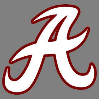 Alabama Script A 2 Color 12 Auto Window Sticker Decals