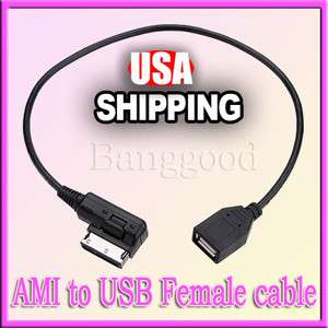 Audi Music Interface AMI USB Aux Input Cable Adapter for S5 Q7 A8 TT