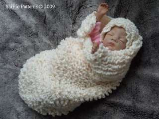 BABY COCOON PAPOOSE CROCHET PATTERN #223 by ShiFios Patterns