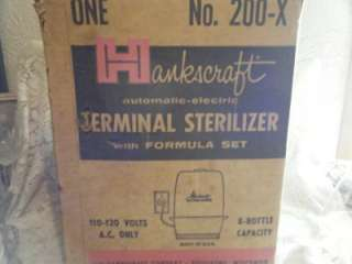 Vtg Hankscraft/Glass Evenflo Baby Bottle Sterilizer~MIB