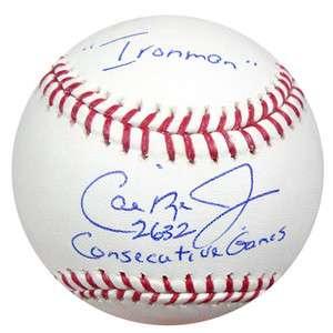 CAL RIPKEN JR AUTOGRAPHED SIGNED MLB BASEBALL 2632 GAMES & IRONMAN PSA