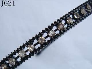 1pcs Black Metal Rhinestone Flower Korean Hair Headband Jewelry High