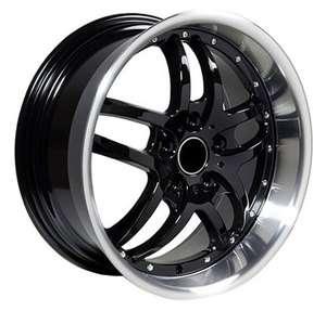 18 BMW Wheels Black Rims 5 6 7 8 series Staggered DEEP 3 dish 518i