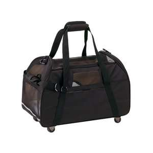 Bergan Pet Products Large Wheeled Comfort Pet Carrier in Black Dogs