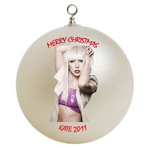Personalized Lady Gaga Christmas Ornament Add Name
