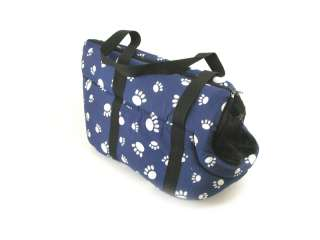 NEW PET TENT CARRIER  BLUE  PAW PRINT DESIGN PLUSH