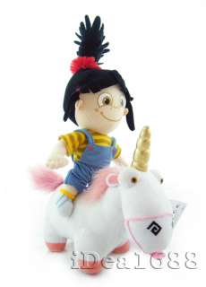 12 DESPICABLE ME Plush Toy Doll AGNES and Unicorn Set