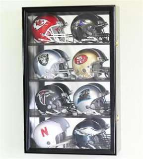 Mini Helmet Display Case Cabinet Wall Rack Box Holder   Lockable