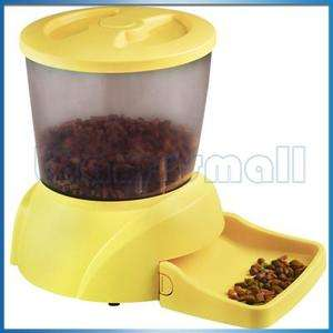 Yellow Automatic Pet Dog Cat Feeder Voice Message  Fast