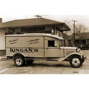 Kingans Reliable Pork Beef Dairy Products Delivery Truck 24X36