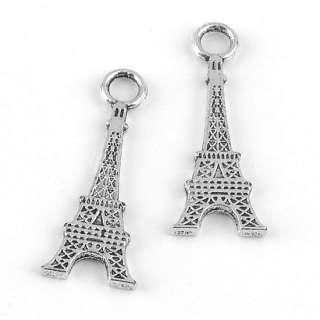 Tibetan Silver Plate Eiffel Tower Pendant Bail Charms Jewelry Findings