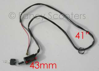 Electric Scooter ignition Key (2 long wires)