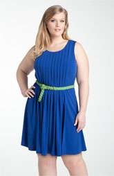 Calvin Klein Belted Jersey Dress (Plus) $138.00
