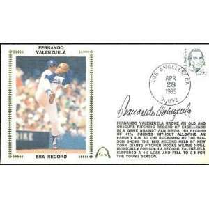 Fernando Valenzuela Dodgers Signed FDC Envelope JSA COA   MLB Cut